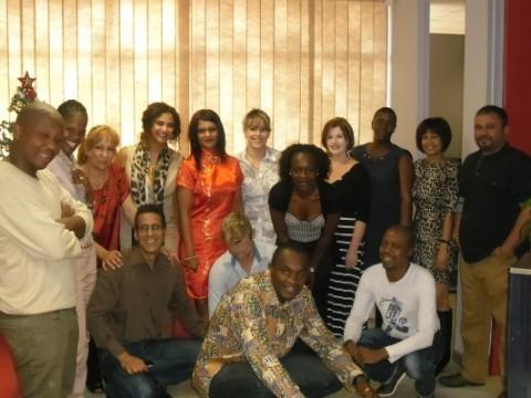 The team with  Bhekimuzi Fakude and Hassane Hamdoune
