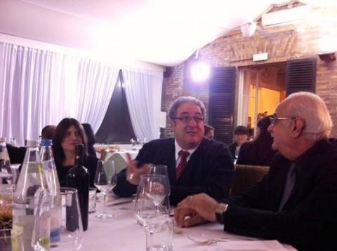 Da sinistra: Sandra Trampetti, consigliere; Maurizio Fucchi, vice presidente; Guido Leoni; rappresentante comune dei soci pensionati.