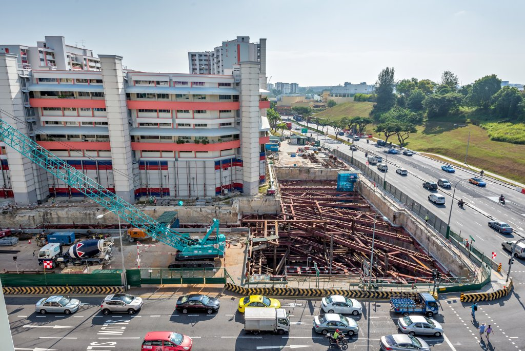 Singapore- cantiere per la metropolitana