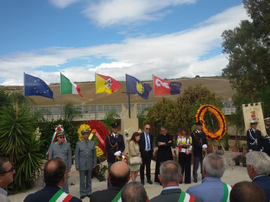Un momento della cerimonia dedicata a Rosario Livatino