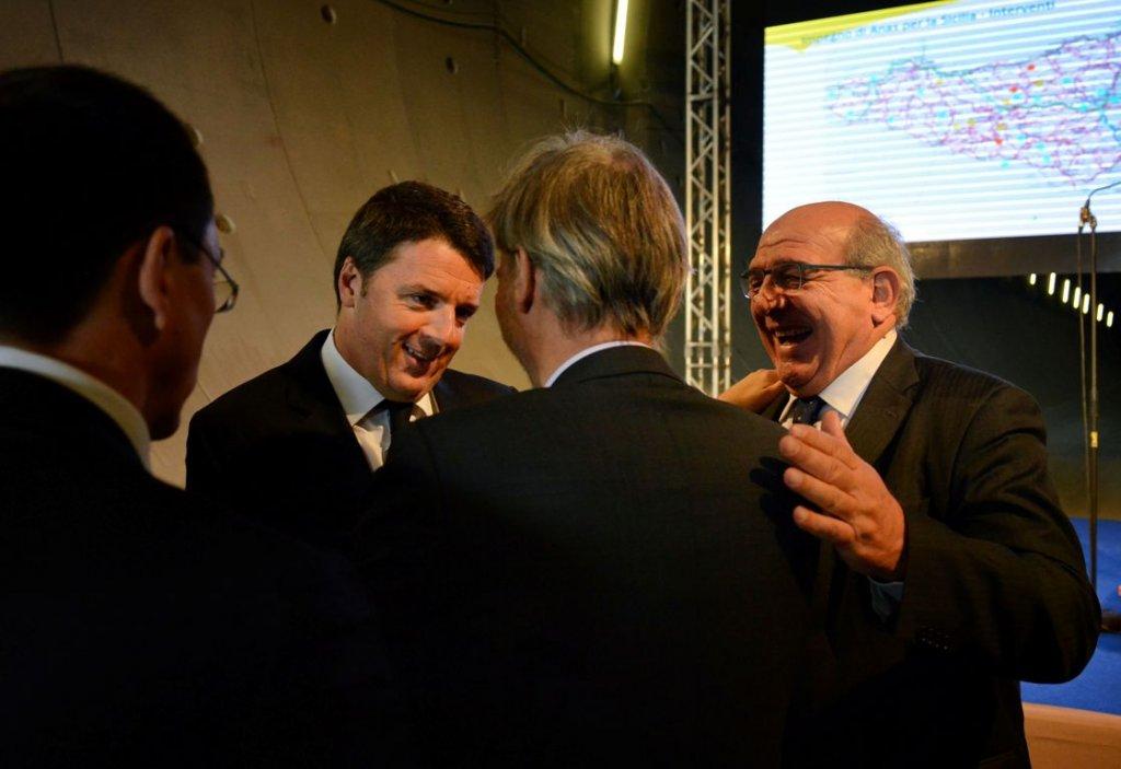 Matteo Renzi con il Presidente CMC Massimo Matteucci