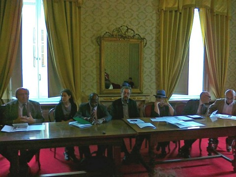 Massimo Matteucci parla alla conferenza stampa di oggi
